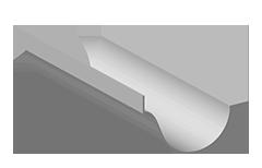 grondaia tonda modello Bracchi con bavarina