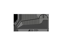 disegno semicolmo tondo fustellato per lamiera tipo coppo